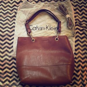 NWOT Calvin Klein Tote with bonus Strap